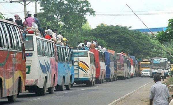 উত্তরবঙ্গমুখী প্রায় ২৫ কিলোমিটার মহাসড়ক যানজটের সৃষ্টি