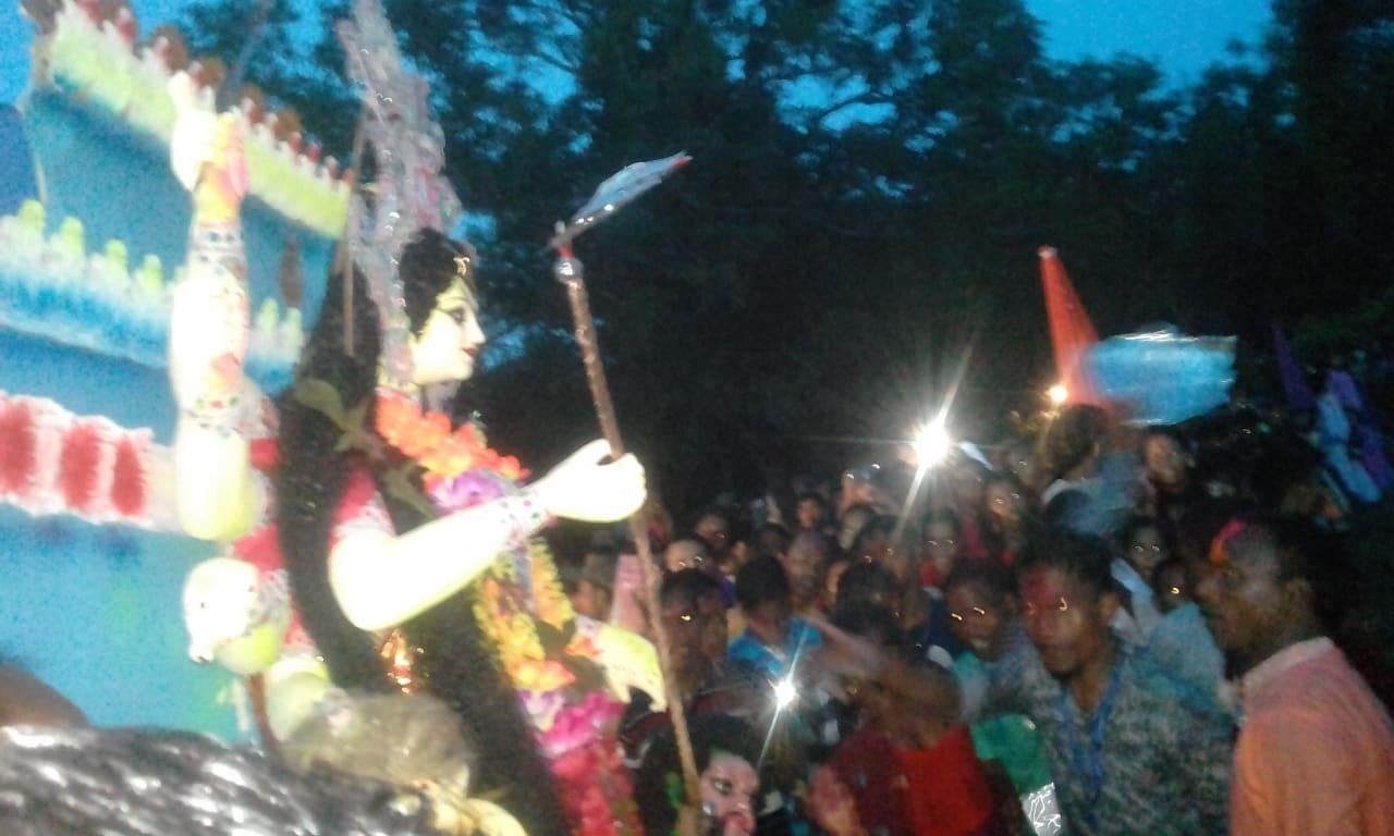 চুনারুঘাটে বিজয়া দশমীর মধ্য দিয়ে সমাপ্তি হলো শারদীয় দুর্গোৎসব