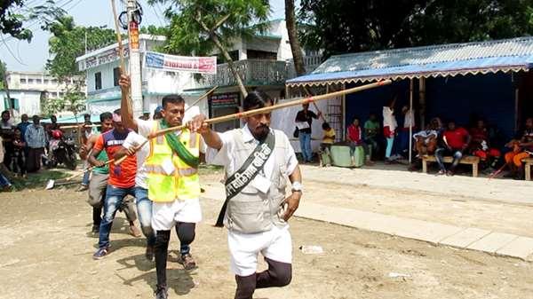 ঝিনাইদহ অজপাড়া গাঁয়ে ব্যতিক্রমধর্মী বৈশাখ বরণ