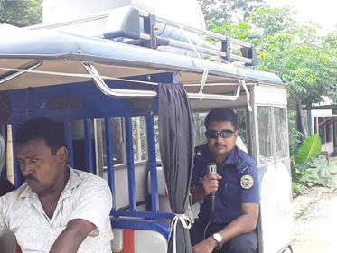 লবনে গুজব : আগৈলঝাড়া থানা পুলিশের উদ্যেগে মাইকিং