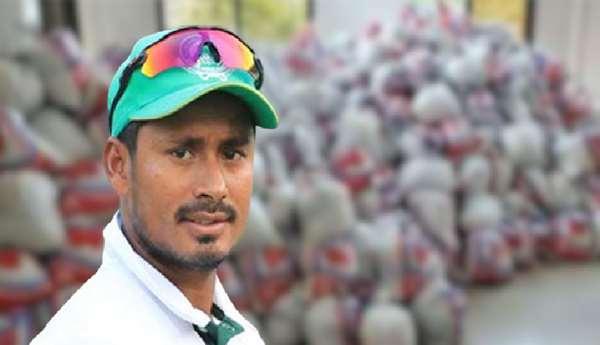 করোনাকালে অসহায়দের পাশে ক্রিকেটার মোহাম্মদ আশরাফুল