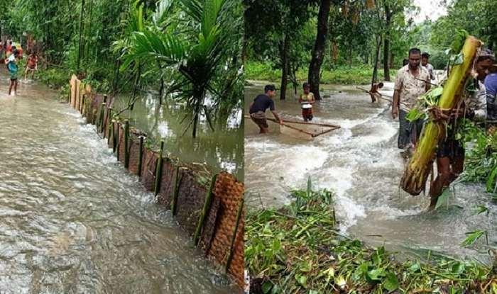 অতি বৃষ্টি ও পাহাড়ি ঢলে সুনামগঞ্জের নদ-নদীর পানি বৃদ্ধি