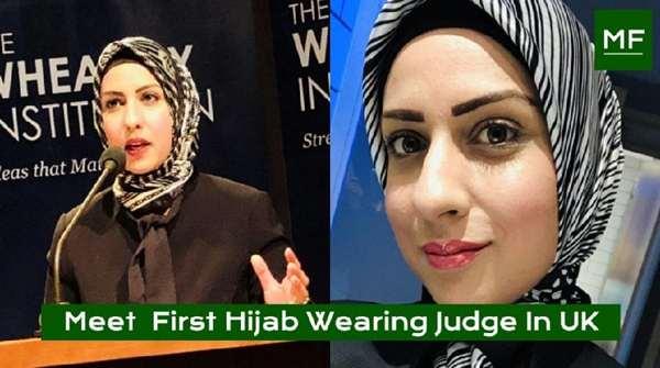 ব্রিটেনে প্রথমবার 'বিচারক' হলেন হিজাবধারী মুসলিম নারী