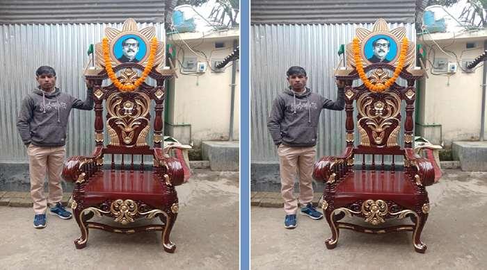 প্রধানমন্ত্রীকে একটি 'চেয়ার উপহার' দিতে চায় মিস্ত্রি মমিনুল